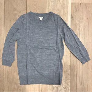 J.Crew Grey 3/4 Sleeve Sweater